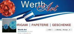 Werth Art is on Facebook at:  https://www.facebook.com/pages/Werth-Art/152709904898351 //  WerthArt ist ein schönes kleines Geschäft für Origami, Papeterie und Geschenke! Für alle die das Besondere suchen!   //  Origami Facebook Pages is provided by www.standinnovations.com