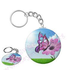 Beautiful as a Butterfly Keychain  http://www.eyewantit.org/#!random-gifts/c4h7  #butterfly #flower #keychain