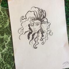 Dessin crayons gris HB, et gras #dessin #drawing #black #white #women