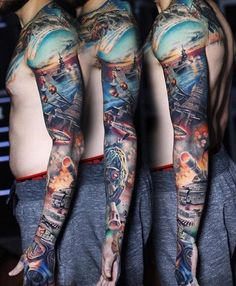 American Military Full Sleeve by Luka Lajoie