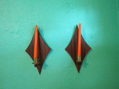 Pair of Mid-Century Modern Harlequin Shaped Wall by AdoredAnew