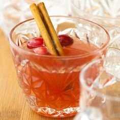 This drink is pretty in pink! Celebrate the season with our incredible Spiced Cranberry Cider! More apple cider recipes: http://www.bhg.com/recipes/drinks/fruit/cider-recipes/?socsrc=bhgpin110113spicedcranberrycider&page=2