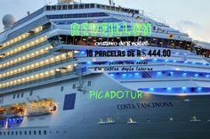 Reveillon a bordo do COSTA FASCINOSA Embarque e desembarque no RIO DE JANEIRO 08 noites a bordo desse maravilhoso cruzeiro! Visitando: Ilhabela , Montevidéo, Buenos Aires e Angra dos Reis. Com para para os fogos de Copacabana! Somente 10x de R$ 444,00 por pessoa, sem juros, sem taxas.* * a partir de  Procure a Picadotur! Solicite uma cotação para o seu SONHO DE VIAGEM! picadotur@gmail.com (13) 98153-4577