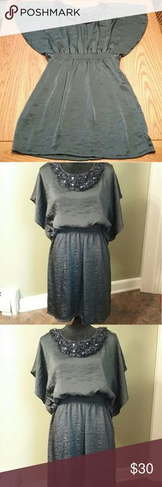 ABstudio size 10 Navy dress 17in bust  Length 35in 100% polyester AB Studio Dresses Midi