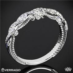 Verragio Beaded Twist Diamond Wedding Ring #whiteflash #verragio Diamond Wedding Rings, Verragio Wedding Bands, Verragio Rings, Diamond Rings, Ruby Rings, Dream Ring, Beautiful Rings, Neil Lane, Muffin