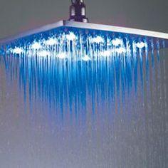 LED Lights Bathroom Shower Head 4th Anniversary Modern Appliances