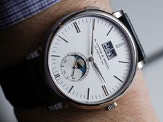 A. Lange and S�hne Saxonia Moon Phase Watch Hands-On
