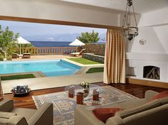 Elounda Mare Hotel - Royal suites with terrace http://www.elounda.com/en/hotels/europe-greece-crete-lassithi-elounda/eloundamarehotelrelaischateaux.html