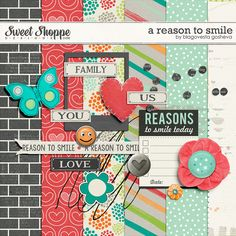 Free A Reason to Smile Mini Kit from  Blagovesta Gosheva at Sweet Shoppe Designs {store checkout required}