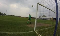 The footage was caught during a game between Squires Gate and Ashton Athletic