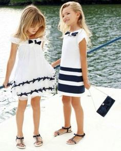 Little Beach Party Girls wearing Lily Pulitzer dresses. For more preppy lifestyle follow Chatham Ivy. http://www.cuetheconversation.com/