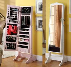 This Standing Jewelry Box will keep your jewelry organized!
