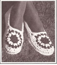 Free Crochet Slipper Patterns | CROCHET GRANNY SQUARE SLIPPERS - Crochet — Learn How to Crochet**Cool & Retro!** by Angeleyecon