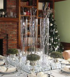 """""""Fire & Ice"""" Christmas holiday  tablescape by Tablescapes at Table Twenty-One, www.tabletwentyone.wordpress.com"""