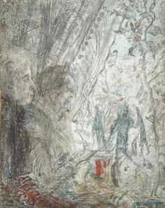 "dappledwithshadow: ""James Ensor (Belgian, 1860-1949) At the Window Dimensions: 22.4 x 17.8 cm Medium: Oil and pencil on panel Creation Date: Circa 1888 """