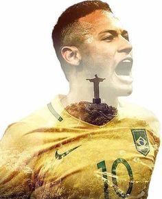 Neymar - The king of Brazilian Soccer Messi Y Neymar, Lionel Messi, Steven Gerrard, Cristiano Ronaldo Celebration, Psg, Soccer Poses, Fc Barcelona Neymar, Neymar Brazil, Premier League