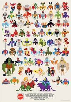 Masters of the Universe Compendium Print by Christopher Lee...