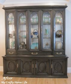 Stain over paint.  Calling it Home: China Hutch ...after