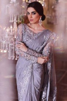 Maria B is introduced in popular and renowned fashion designers of Pakistan.Maria B was ornamented in 1999 and the owner of this label is Maria Belal. Hijab Wedding, Pakistani Wedding Outfits, Pakistani Dresses, Indian Dresses, Indian Outfits, Indian Saris, Wedding Sari, Desi Wedding, Wedding Bride