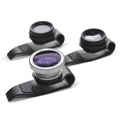 """The Four Corner Store has released a new trio of lenses that you can just slip on your iPhone, iPad or almost anything with a tiny lens and start shooting."""" Gizmon Clip-On Fisheye, Polarizing or Mirage Lenses for iPhone and iPad Gadgets And Gizmos, Tech Gadgets, Cool Gadgets, Hifi Video, Iphone Lens, Iphone Camera, Ipad Iphone, Apple Iphone, Products"""