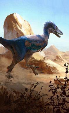 Velociraptor osmolskae | Jonathan Kuo