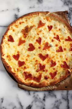Get a Little a Cheesy with This Sweet Valentine's Day Four Cheese Pepperoni Pizza