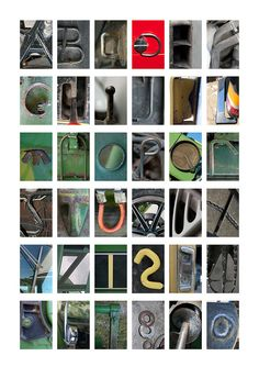Photographic Alphabet by Kristine Campbell, via Flickr