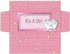 Free Printable Candy Bar Box for announcing a new daughter / granddaughter.  She also has other designs, and can personalize.
