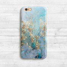 Gold Blue Marble Case, iPhone SE, iPhone 6s, 6s plus iPhone 6 case, 5 iPad Mini iPhone 5c , Samaung Galaxy S6, S7 Watercolor Marble Case