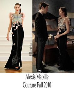 Season 4 Ep. 21, Blair's engagement dress is to die for. Alexis Mabille, fall 2010