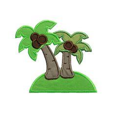 Verano Playa Paradise Island apliques máquina bordado Digital