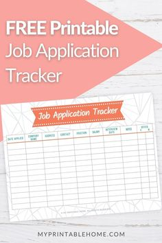 In one glance this Job Application Tracker will give you an overview of your job search efforts. Need a New Job |Starting a New Job | Job Application Tracker | Resume | Work | Careers | Job Opportunity | job application template | Applying for Jobs | Student Job Application | Employment Tracker