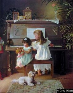 Greg Olsen Melodies Remembered Canvas ....reminds me of me and my sister ;0)