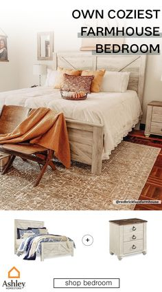 Here at Ashley, we believe in cozy blankets and comfy bedrooms. Find your next napping spot at Ashley HomeStore! Room Ideas Bedroom, Dream Bedroom, Home Decor Bedroom, Master Bedroom, Farmhouse Bedrooms, Coastal Bedrooms, Guest Bedrooms, Southwest Bedroom, Summer Bedroom