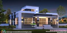 Left side view of the house Single Floor House Design, Simple House Design, House Front Design, Modern House Design, Morden House, Free House Plans, Kerala House Design, Contemporary House Plans, Villa