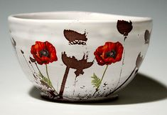Poppy Bowl by Justin Rothshank: Ceramic Bowl available at www.artfulhome.com