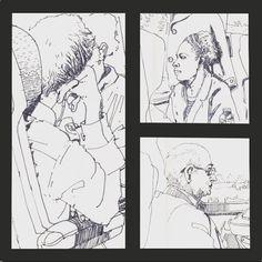 #train #journey #people #portrait #sketch #sketchbook #pen #ink #doodle #reportage #urbanart #urbansketch #illustration #drawing by lyndonhayes