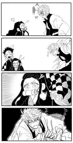 Lesen Sie den Plan :))) - Doujinshi Kimetsu no Yaiba Story - Anime Manga Anime, Gato Anime, Fanarts Anime, Anime Demon, Anime Guys, Anime Characters, Hiro Big Hero 6, Slayer Meme, Punch Man