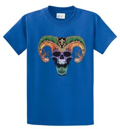 Big Mens Jester Skull Graphic T-Shirt