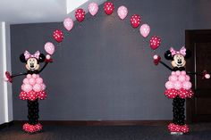 minnie mouse with balloons | Minnie Mouse Balloon Arch