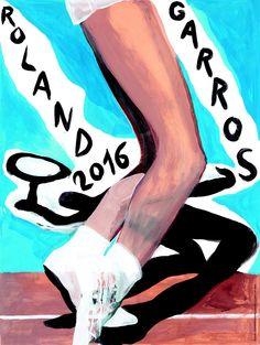 Tennis Buzz, Roland Garros 2016 poster by Marc Desgrandchamps