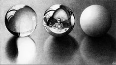 M.C. Escher - Three Spheres II 1946