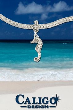 Seahorse Charm - Sterling Silver Seahorse Charm - Sea Life Charms - Seahorse Jewelry by Caligo Design - Nature Inspired Jewelry - Ocean Jewelry, Nautical Jewelry, Beach Jewelry, Ocean Life, Nature Inspired, Sea Creatures, Charms, Sterling Silver, Design
