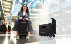 Get To Your Flight In Style With Motorized Rideable Luggage…