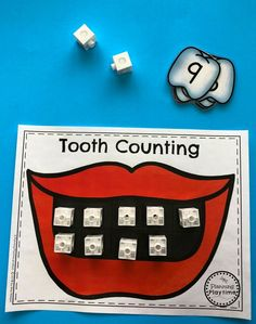 Dental Health Game for Preschool - Snap Cube Teeth Body Preschool, Preschool Activities, April Preschool, Space Activities, Dental Health Month, Oral Health, People Who Help Us, Health Unit, Health Activities