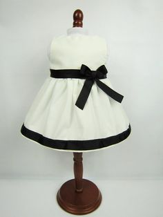18 Girl Doll Clothes Black White Doll Dress by sassydollcreations