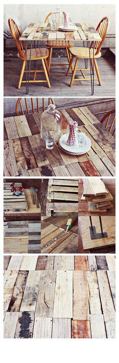 WOOD PALLET TABLE DIY
