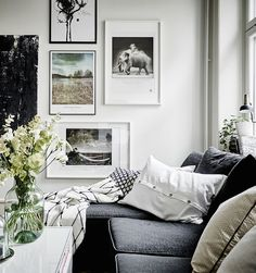 The beautiful gallery wall in the living room first caught my eye, what a great combination of art. The gorgeous styling of this Swedish apartment is by Stil&Rum, with the photography by Jonas Berg for Entrance~ x debra  Dust Jacket on Bloglovin'