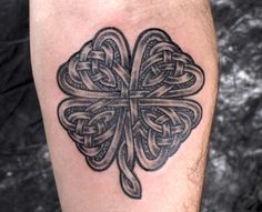 Celtic four leaf Clover - - #talesofthetatt #tattoo  #Irish #StPatricksDay- www.talesofthetatt.com Sin Tattoo, Tattoo Blog, Body Art Tattoos, Cool Tattoos, Tatoos, Irish Tattoos, Celtic Tattoos, Celtic Shamrock, Shamrock Tattoos