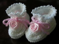 creazioni fiopi: scarpine uncinetto neonati............parte 1^